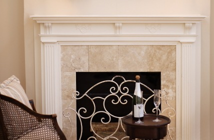 Decorative fireplace by Handy Manners