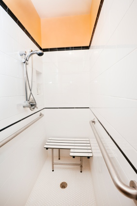 Handicap access shower stall in Stella MO by Handy Manners